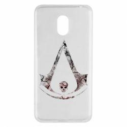 Купить Assassin's Creed, Чехол для Meizu M6 Assassins Creed and skull, FatLine