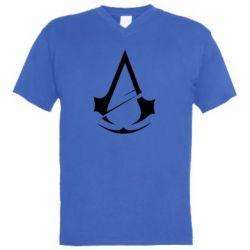 Чоловіча футболка з V-подібним вирізом Assassins Creed Logo