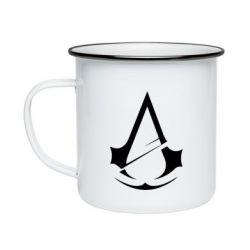Кружка емальована Assassins Creed Logo