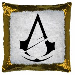 Подушка-хамелеон Assassins Creed Logo
