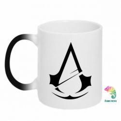 Кружка-хамелеон Assassins Creed Logo