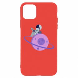 Чехол для iPhone 11 Astronaut and planet