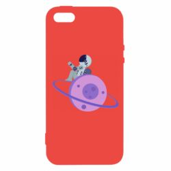 Чехол для iPhone5/5S/SE Astronaut and planet