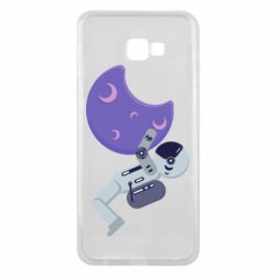 Чехол для Samsung J4 Plus 2018 Astronaut and satellite