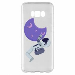 Чехол для Samsung S8+ Astronaut and satellite