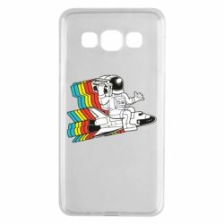 Чохол для Samsung A3 2015 Astronaut on a rocket with a tape recorder