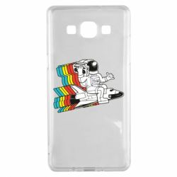 Чохол для Samsung A5 2015 Astronaut on a rocket with a tape recorder