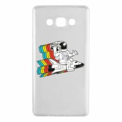 Чохол для Samsung A7 2015 Astronaut on a rocket with a tape recorder