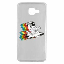Чохол для Samsung A7 2016 Astronaut on a rocket with a tape recorder