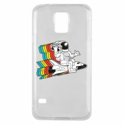 Чохол для Samsung S5 Astronaut on a rocket with a tape recorder