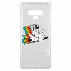 Чохол для Samsung Note 9 Astronaut on a rocket with a tape recorder
