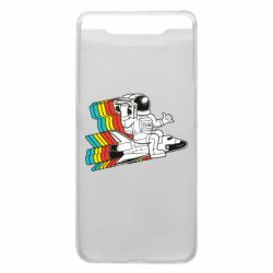 Чохол для Samsung A80 Astronaut on a rocket with a tape recorder