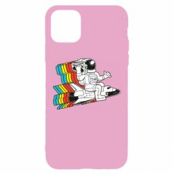 Чохол для iPhone 11 Astronaut on a rocket with a tape recorder
