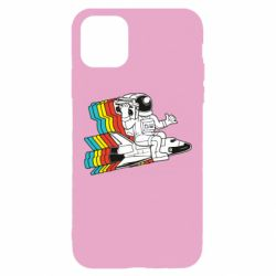 Чохол для iPhone 11 Pro Max Astronaut on a rocket with a tape recorder