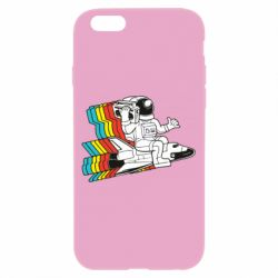 Чохол для iPhone 6/6S Astronaut on a rocket with a tape recorder