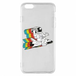Чохол для iPhone 6 Plus/6S Plus Astronaut on a rocket with a tape recorder