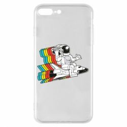 Чохол для iPhone 8 Plus Astronaut on a rocket with a tape recorder