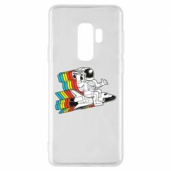 Чохол для Samsung S9+ Astronaut on a rocket with a tape recorder