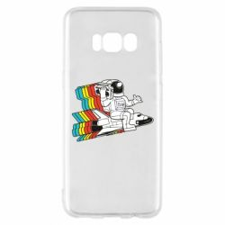 Чохол для Samsung S8 Astronaut on a rocket with a tape recorder