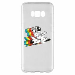 Чохол для Samsung S8+ Astronaut on a rocket with a tape recorder