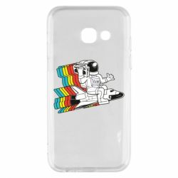 Чохол для Samsung A3 2017 Astronaut on a rocket with a tape recorder