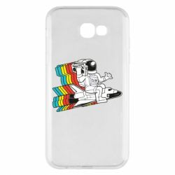 Чохол для Samsung A7 2017 Astronaut on a rocket with a tape recorder