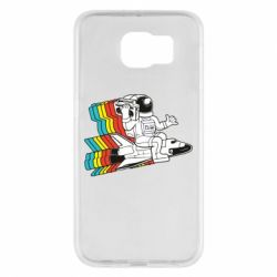 Чохол для Samsung S6 Astronaut on a rocket with a tape recorder