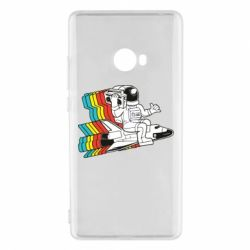 Чохол для Xiaomi Mi Note 2 Astronaut on a rocket with a tape recorder