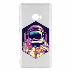 Чехол для Xiaomi Mi Note 2 Astronaut with donut and pizza