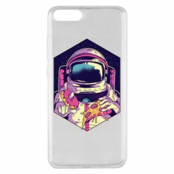 Чехол для Xiaomi Mi Note 3 Astronaut with donut and pizza
