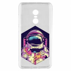 Чехол для Xiaomi Redmi Note 4 Astronaut with donut and pizza