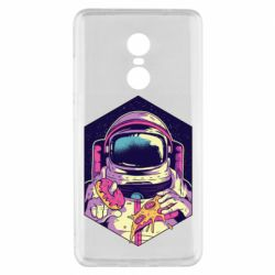 Чехол для Xiaomi Redmi Note 4x Astronaut with donut and pizza