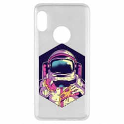Чехол для Xiaomi Redmi Note 5 Astronaut with donut and pizza