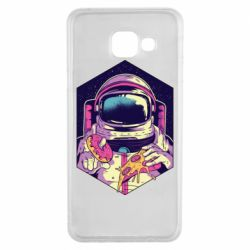 Чехол для Samsung A3 2016 Astronaut with donut and pizza