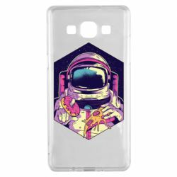 Чехол для Samsung A5 2015 Astronaut with donut and pizza