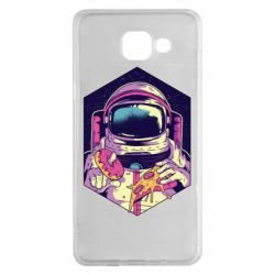 Чехол для Samsung A5 2016 Astronaut with donut and pizza