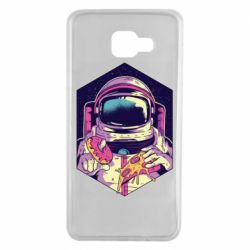 Чехол для Samsung A7 2016 Astronaut with donut and pizza