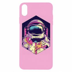 Чехол для iPhone Xs Max Astronaut with donut and pizza