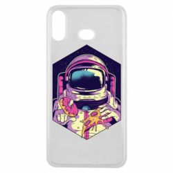 Чехол для Samsung A6s Astronaut with donut and pizza