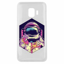Чехол для Samsung J2 Core Astronaut with donut and pizza