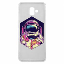 Чехол для Samsung J6 Plus 2018 Astronaut with donut and pizza
