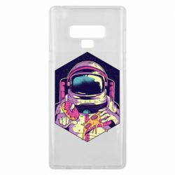 Чехол для Samsung Note 9 Astronaut with donut and pizza