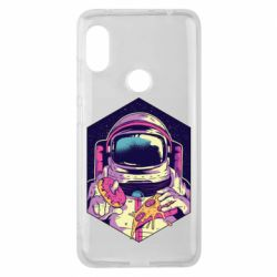 Чехол для Xiaomi Redmi Note 6 Pro Astronaut with donut and pizza