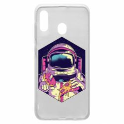 Чехол для Samsung A30 Astronaut with donut and pizza