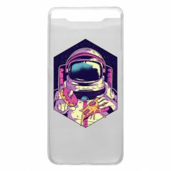 Чехол для Samsung A80 Astronaut with donut and pizza