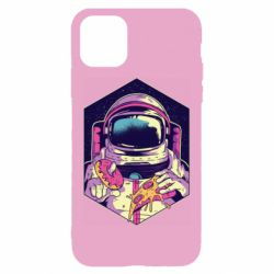 Чехол для iPhone 11 Astronaut with donut and pizza
