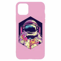 Чехол для iPhone 11 Pro Max Astronaut with donut and pizza