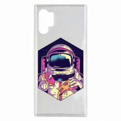 Чехол для Samsung Note 10 Plus Astronaut with donut and pizza