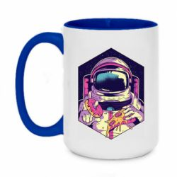 Кружка двухцветная 420ml Astronaut with donut and pizza