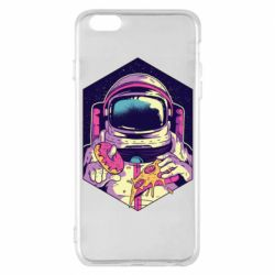 Чехол для iPhone 6 Plus/6S Plus Astronaut with donut and pizza
